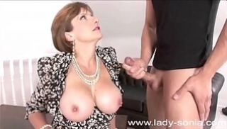 Russian Porn Download - An old aunt with short hair seduces young guys with a Blowjob every day