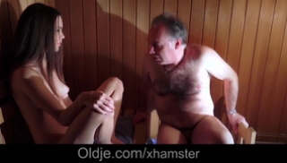 Russian Sex Download - Naked old man and young stranger have sex in a sauna